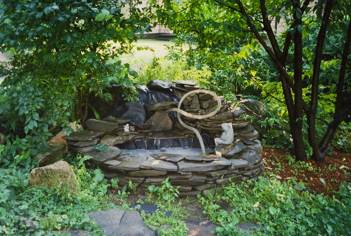 Small fish pond fountains house of fishery lovers for Small garden pond with fountain